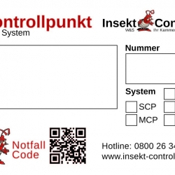Kontrollpunktaufkleber W&S Insekt Control