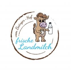 Logo frische Landmilch vom Bainger Hof