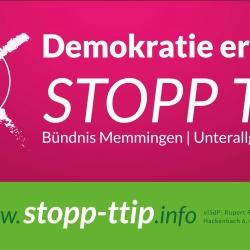 Banner (Plane) Stopp TTIP