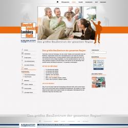 Organix Webseite Baustoffhandel Rieth