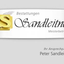 Visitenkarten Bestattungen Sandleitner