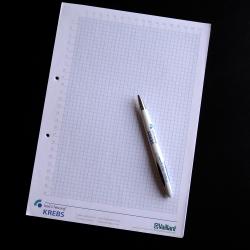 Notizblock mit Kugelschreiber